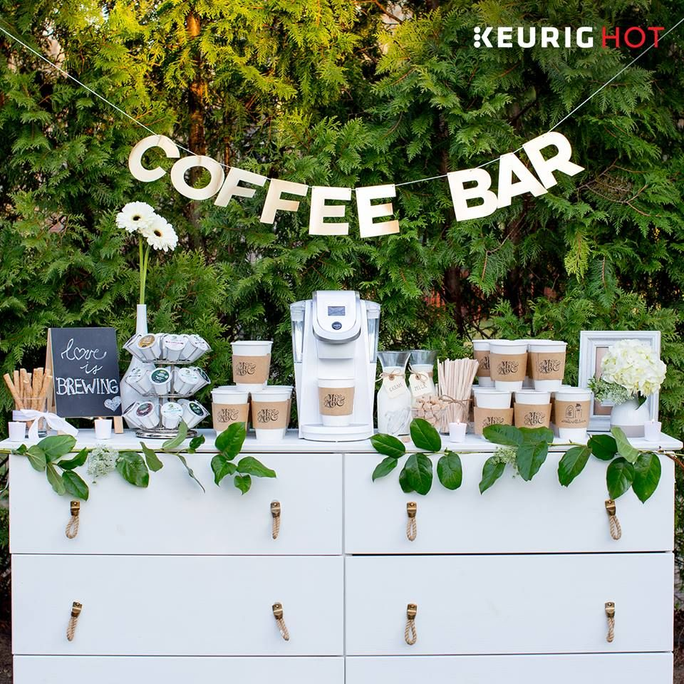 Ideas For Wedding Reception Without Dancing: A #coffeebar Is A Perfect #DIY Idea For All You Coffee
