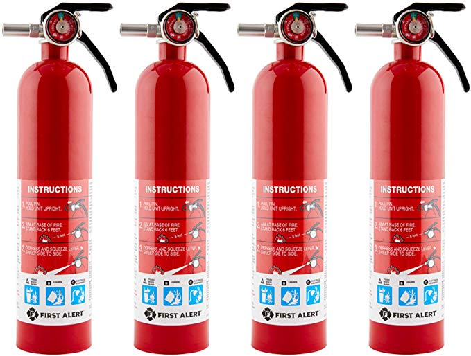 First Alert Home Fire Extinguisher 4 Pk Rated 1 A 10 B C Model Home1 Amazon Com In 2020 Fire Extinguisher Fire Car