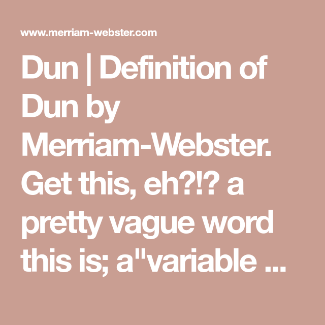 merriam webster defines