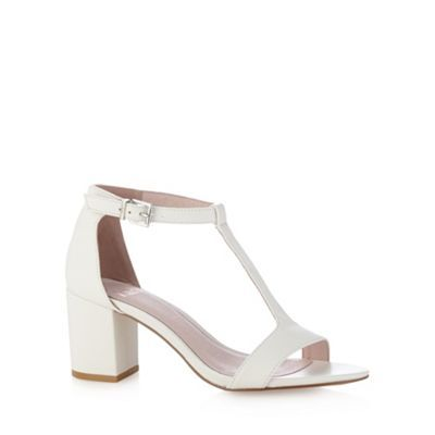 Faith White mid heel sandals- at Debenhams.com