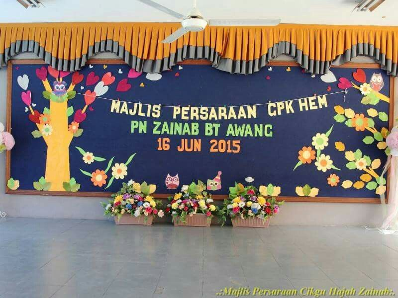Hiasan Pentas Backdrop Teacher Stage Decorations Backdrops Cake