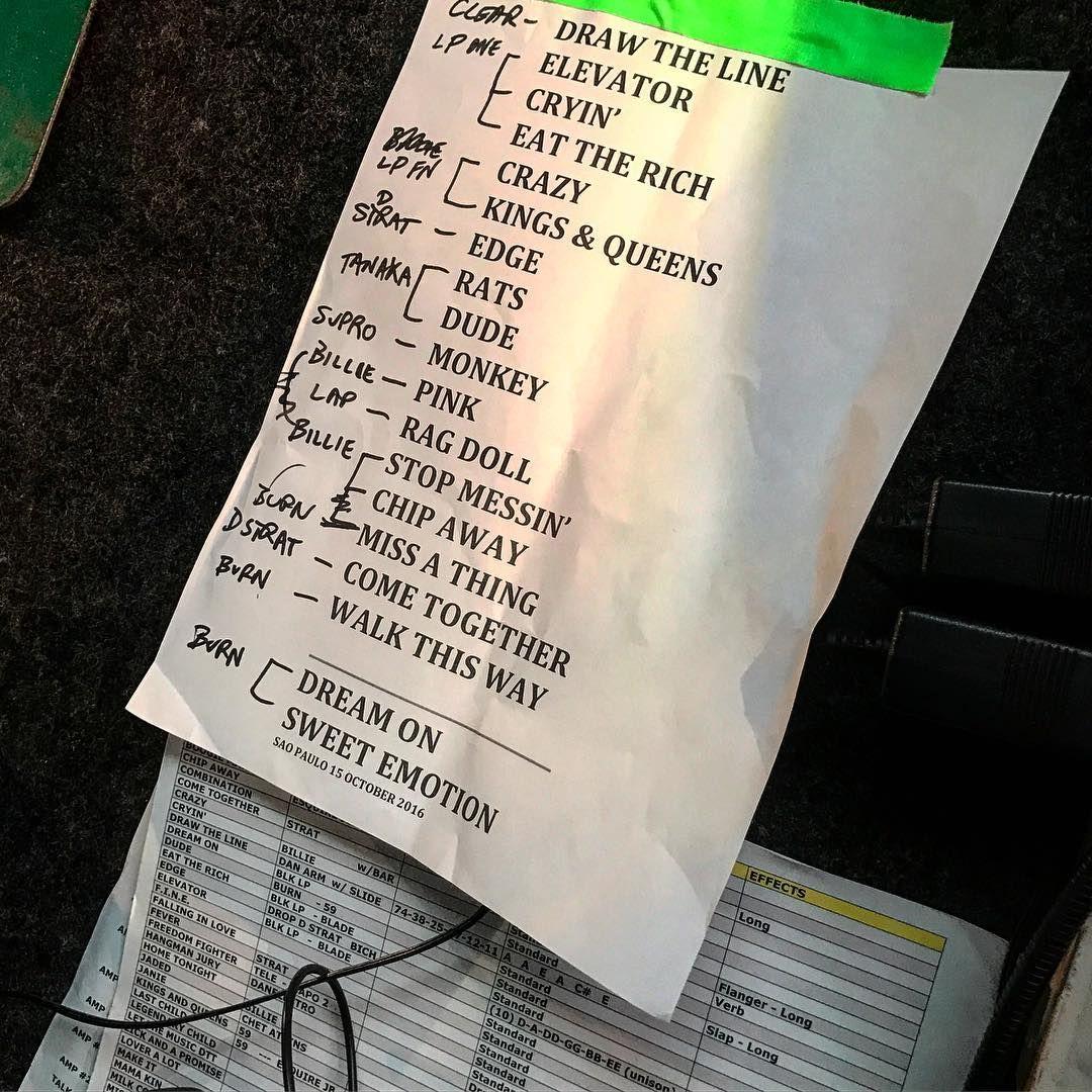 The coloring book tour setlist - Set List Aerosmith 15 De Outubro De 2016 Allianz Parque Sp