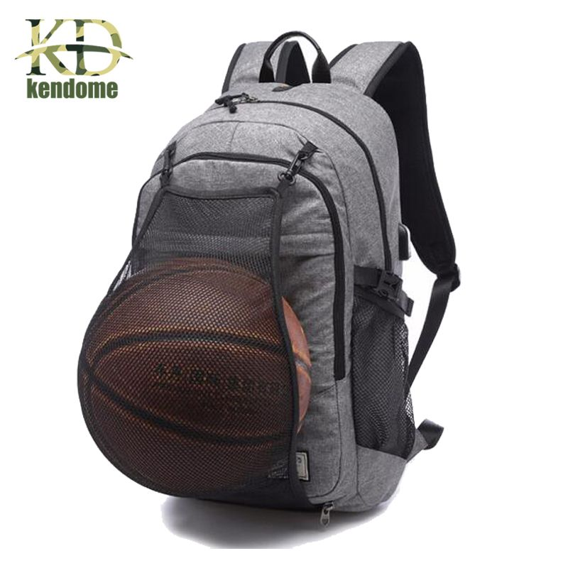 Outdoor Men s Sports Gym Bags Basketball Backpack School Bags For Teenager  Boys Soccer Ball Pack Laptop Bag Football Net Gym Bag 832327e8dbb62