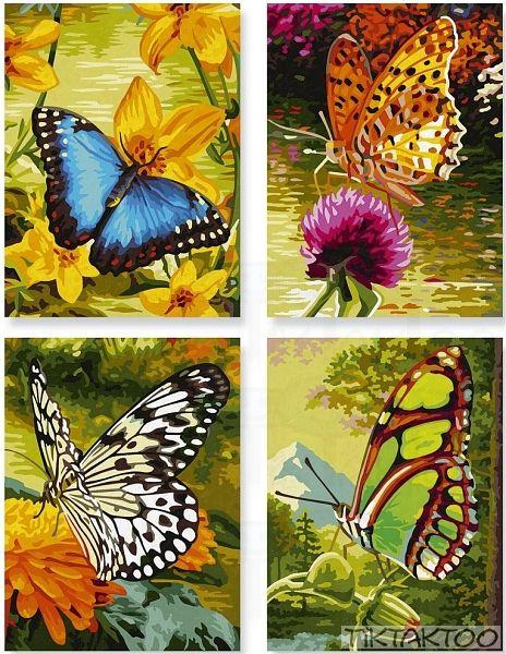 Malen Nach Zahlen Schmetterlinge Quattro Von Schipper 609340628 Tiktaktoo Malen Nach Zahlen Idee Farbe Schmetterling Malen
