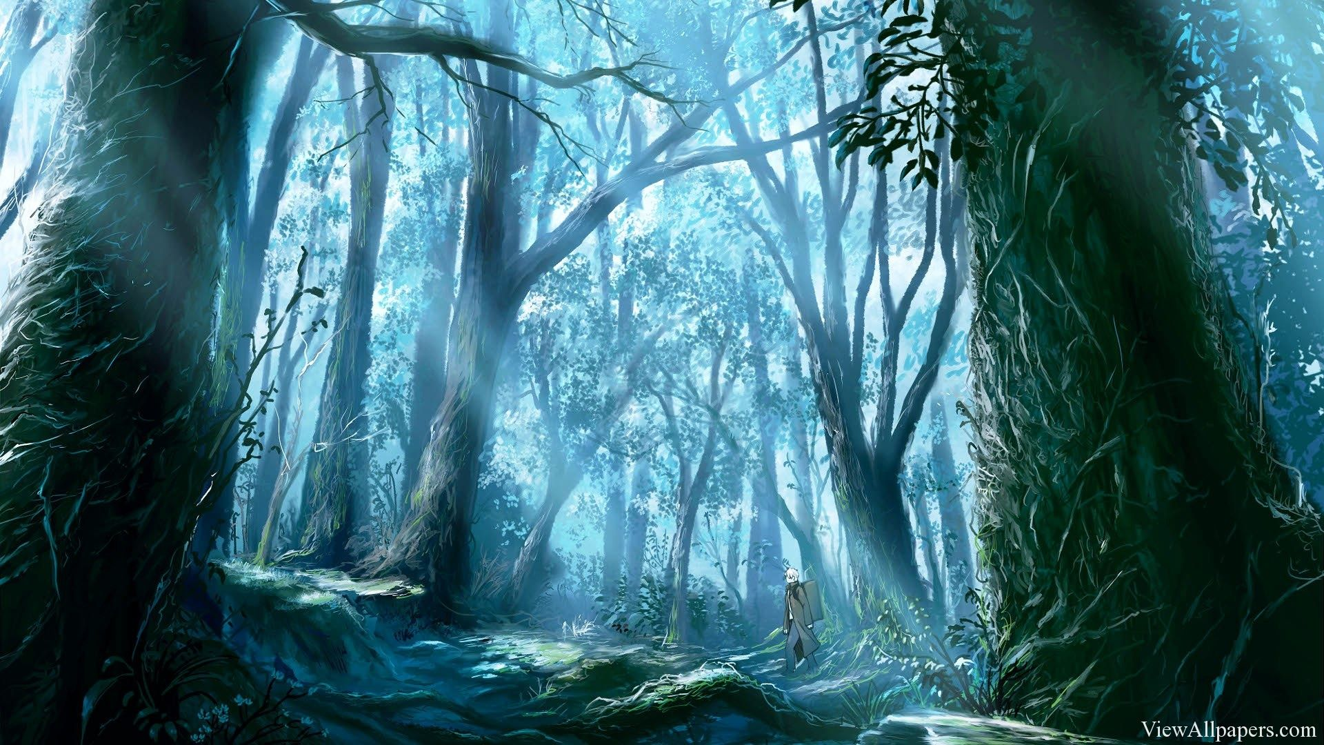 Anime Jungle Hd Resolution Wallpaper Free Download Anime Jungle Wallpaper For Pc Computers Desktop Background Smartphones And Tablet