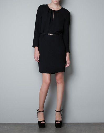 KLEID MIT TROPFENAUSSCHNITT - Kleider - Damen - ZARA | Shopping list ...