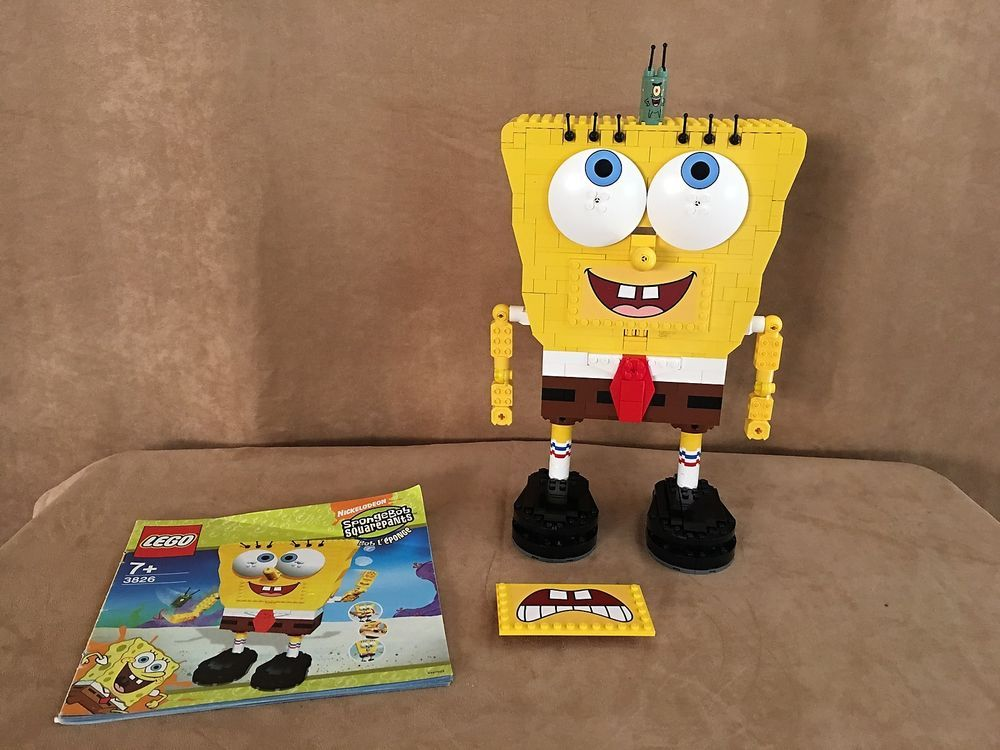 3826 Lego Spongebob Squarepants Build A Bob Complete Instructions