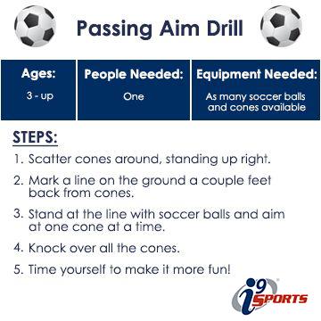 I9 Sports Passing Aim Drill In 2020 Soccer Drills For Kids Soccer Training Soccer Drills