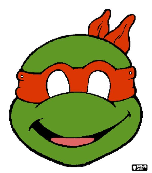 Printable Halloween Masks Ninja Turtles Birthday Party Ninja Turtle Mask Teenage Mutant Ninja Turtles Party