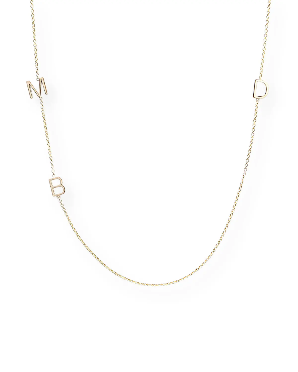 Maya Brenner Designs Mini 3Letter Personalized Necklace