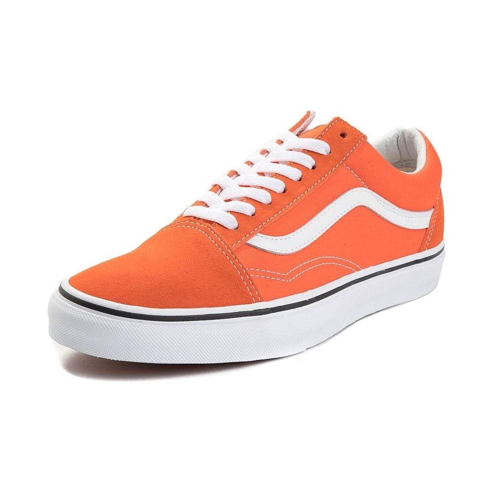 2eb31bfaafbc7d Vans Old Skool Skate Shoe - Flame Orange - 497213