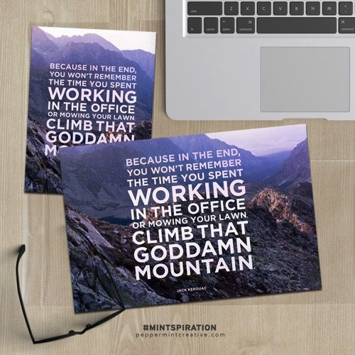 Free printable pocket card : climb that goddamn mountain