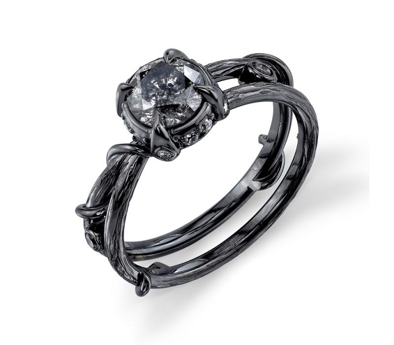 1fd4d52a058ac Chelsea engagement ring by BVLA; Black rhodium plating w/ Grey ...