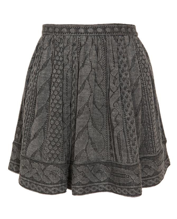 Jersey Knit Skirt Pattern : Best 25+ Knit skirt ideas on Pinterest Skirt knitting pattern, Knitted skir...