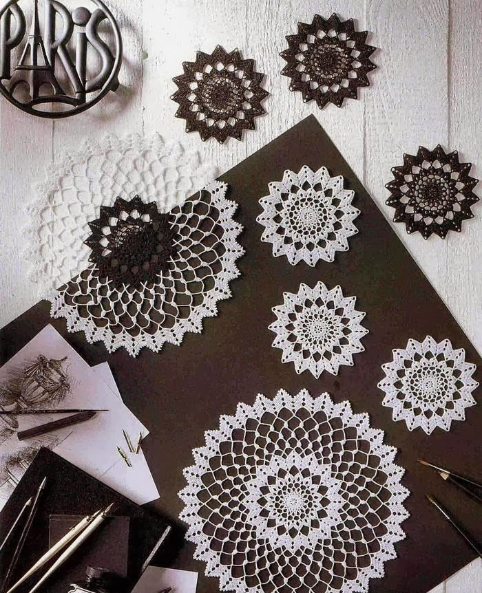 Crochet Doily + Diagram | Crochet Doilies | Pinterest | Mandalas y Hogar