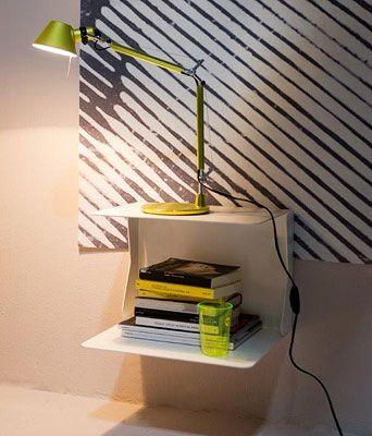table de chevet suspendue samui mobilier nightstand. Black Bedroom Furniture Sets. Home Design Ideas
