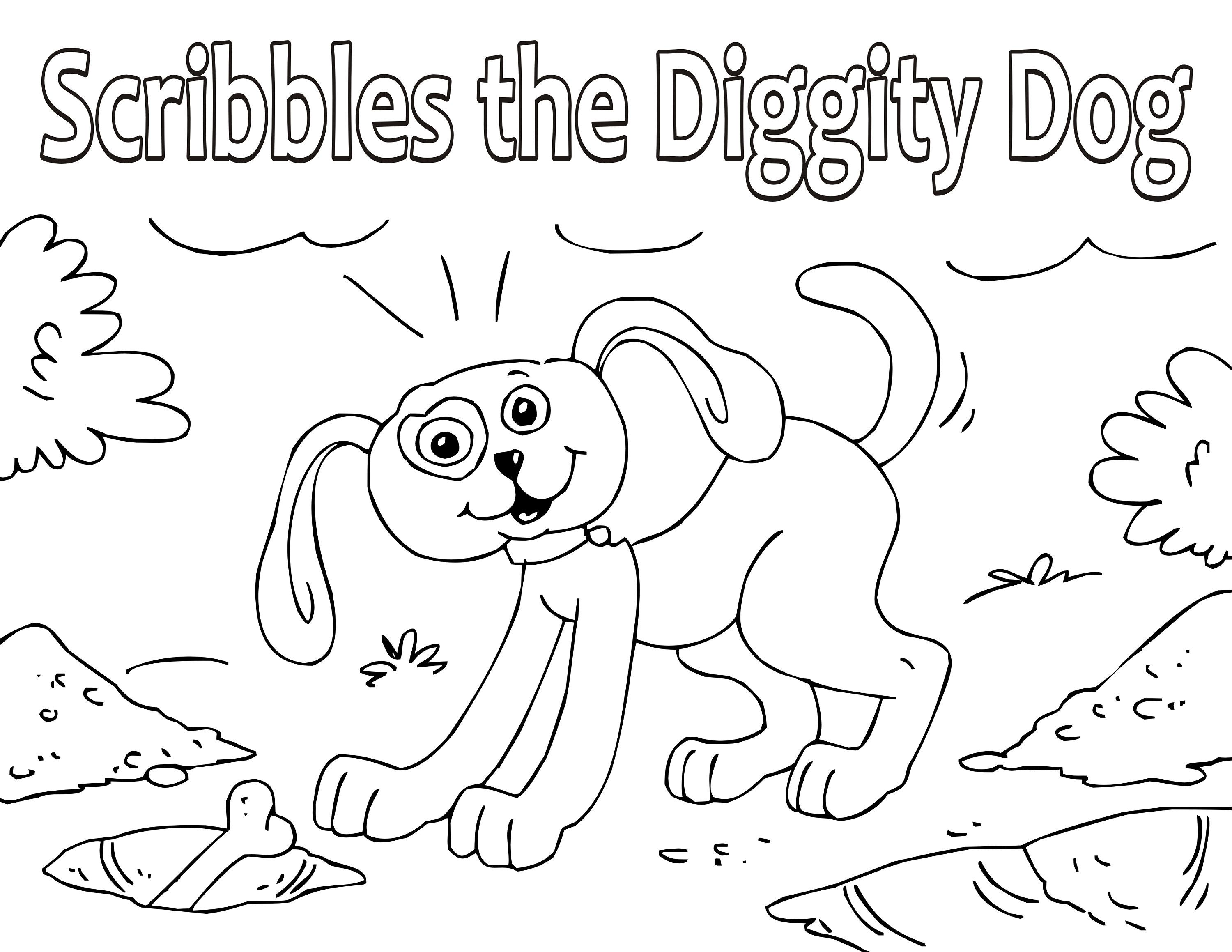 Coloring Book With Story For Kids Scribbles The Diggity Dog Bedtime Story Coloring Pages Colorin Coloring Books Coloring Pages Printable Coloring Book