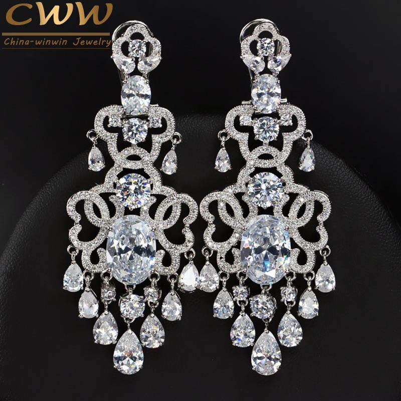 Top Quality Eneving Dress Jewelry Fully Cubic Zirconia Simulated ...
