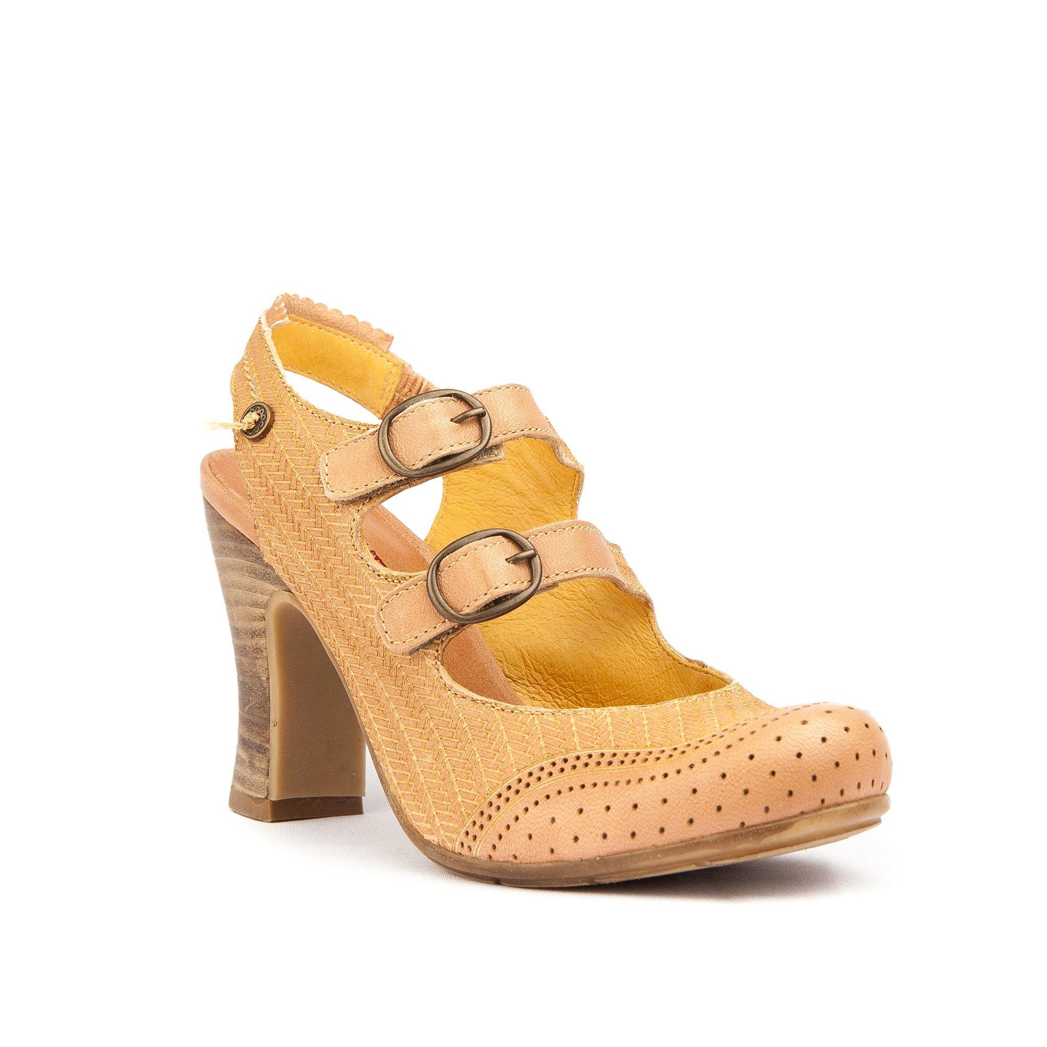 47d65d8fd0468 Gold Button Aurea Sling back from ELLA Shoes Vancouver