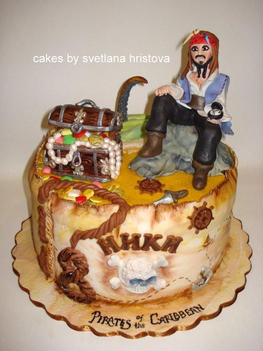 Jack Sparrow Cake Pirates Of The Caribbean Postaci Z Bajek I