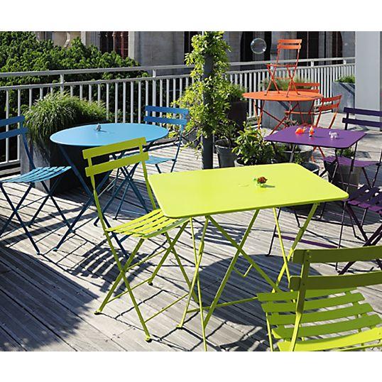 Table pliante FERMOB Bistro, 2/4 personnes | Balcon | Table pliante ...
