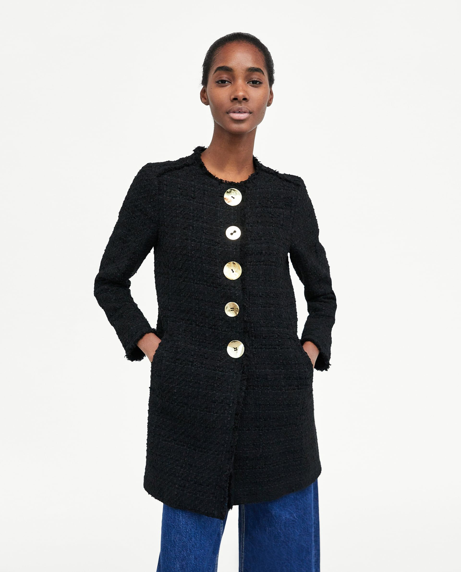 7ee29c9a63b TWEED COAT WITH CONTRASTING BUTTONS DETAILS 8