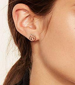 464f9d96e4677 Tory Burch Logo-circle Stud Earring   Jewels   Jewelry, Stud ...