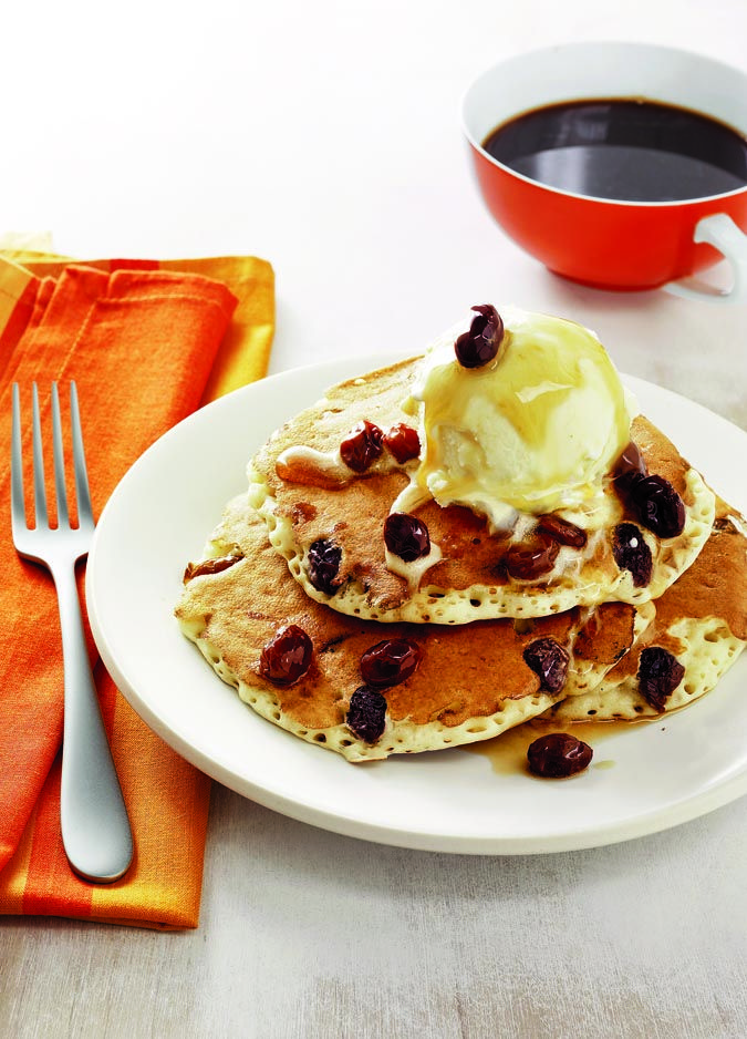 Breakfast is served Rum Raisin Pancake Sundaes, from Food Network Magazine's new cookbook, #1000EasyRecipes, available in the Food Network Store for $16.99.
