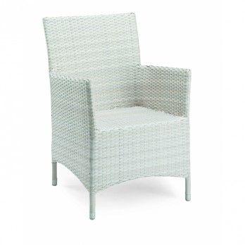 Best Dining Chair Diva Geflecht weiß - Gartenmöbel von Garten