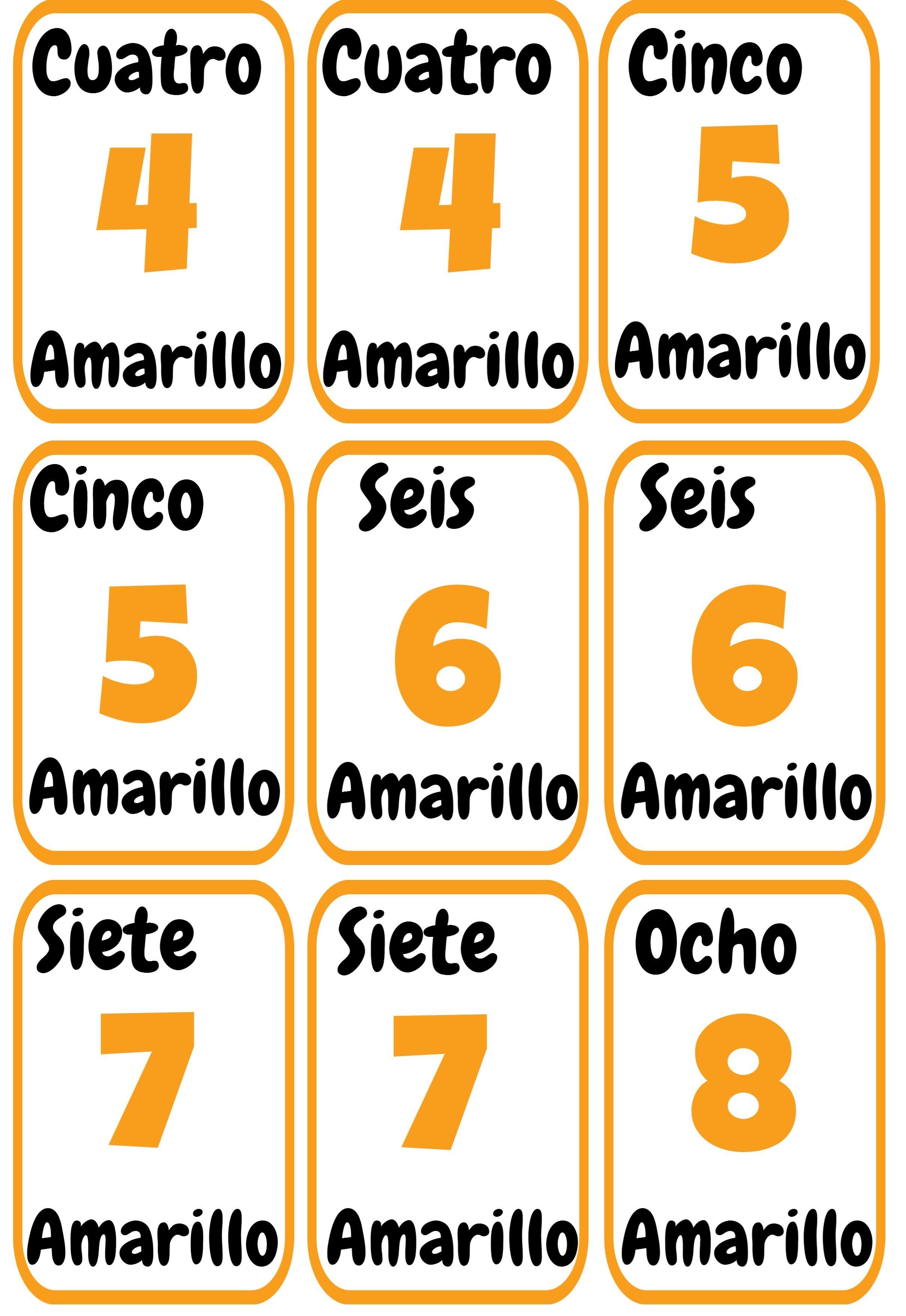 Cartas Uno Imprimibles Para La Clase De Espanol Ele