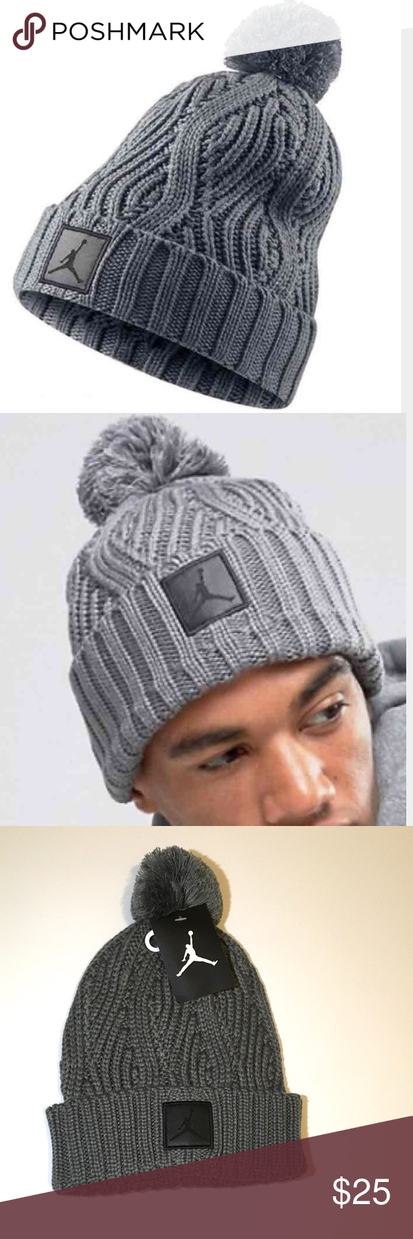 New Nike Air Jordan Jumpman beanie Pom grey hat. New Nike Air Jordan  Jumpman beanie Pom grey hat. Nike Accessories Hats be8c95c51e4