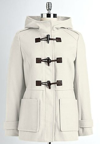 White Duffle Coat | Down Coat
