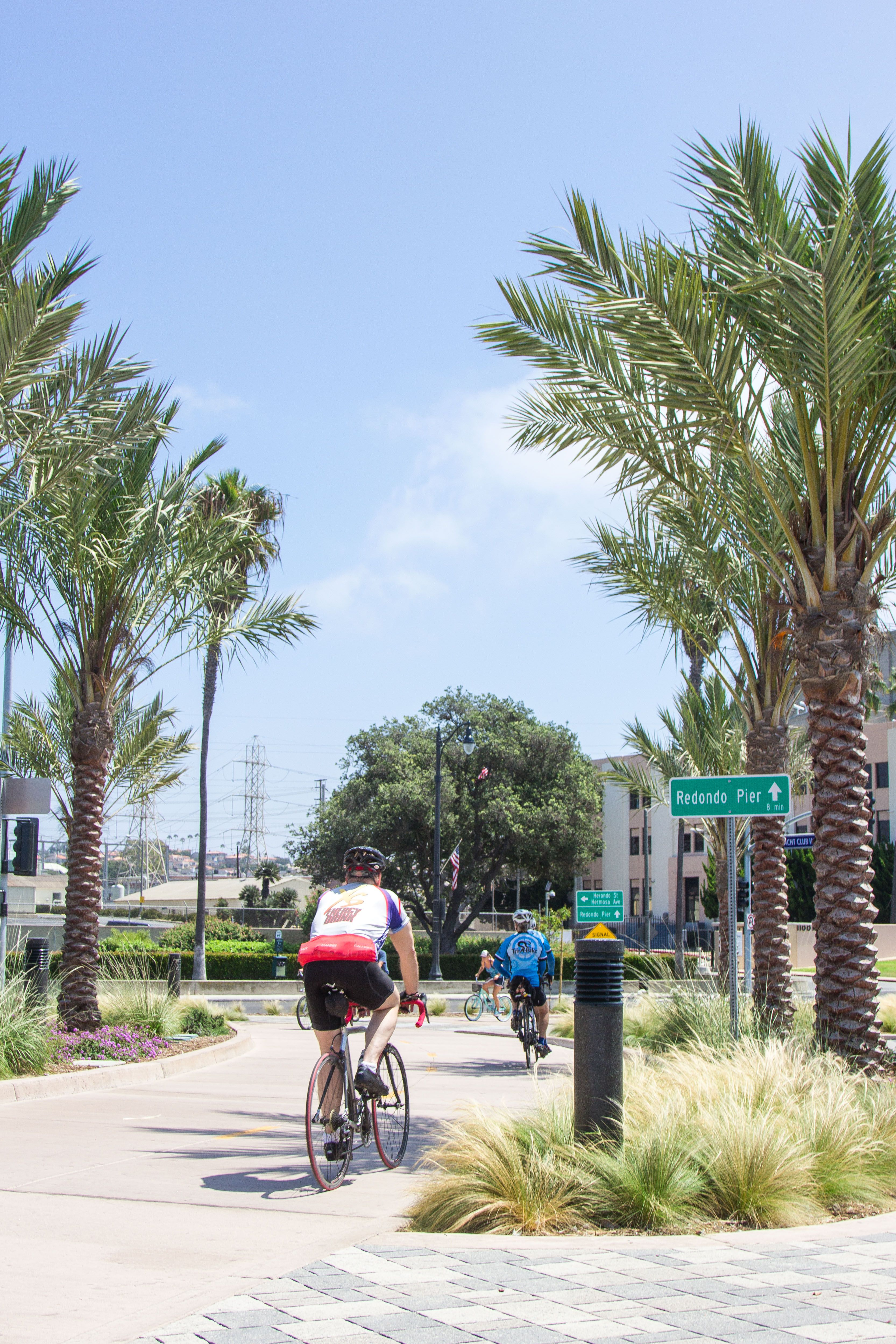 LA's Longest Bike Route runs right by the ocean. Redondo