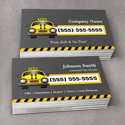 Make your own taxi business card limo taxi business cards make your own taxi business card colourmoves Images