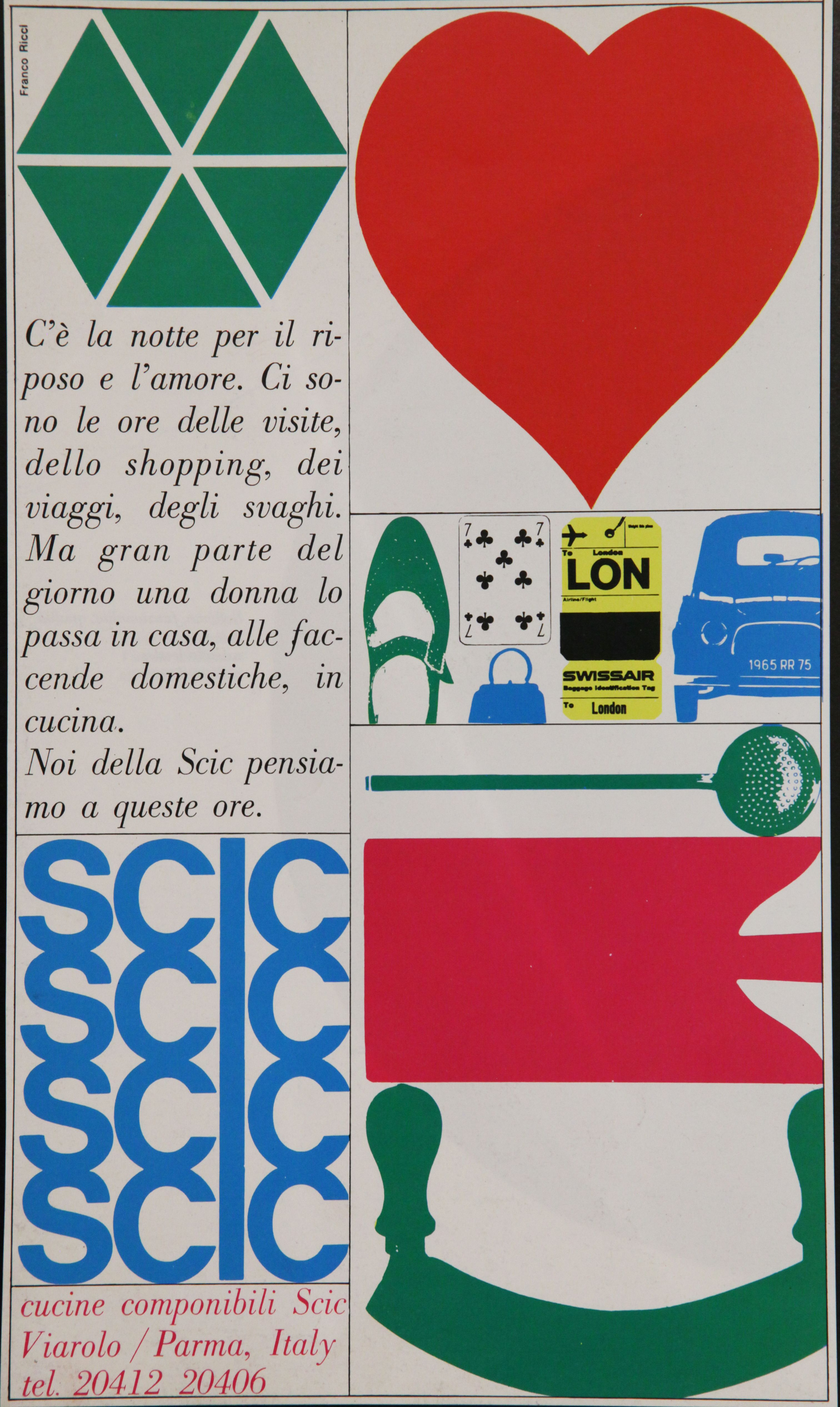 60 S Scic Poster By Franco Maria Ricci