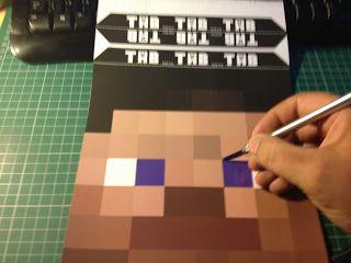 Free Minecraft Steve Head Printable Template Mask Minecraft