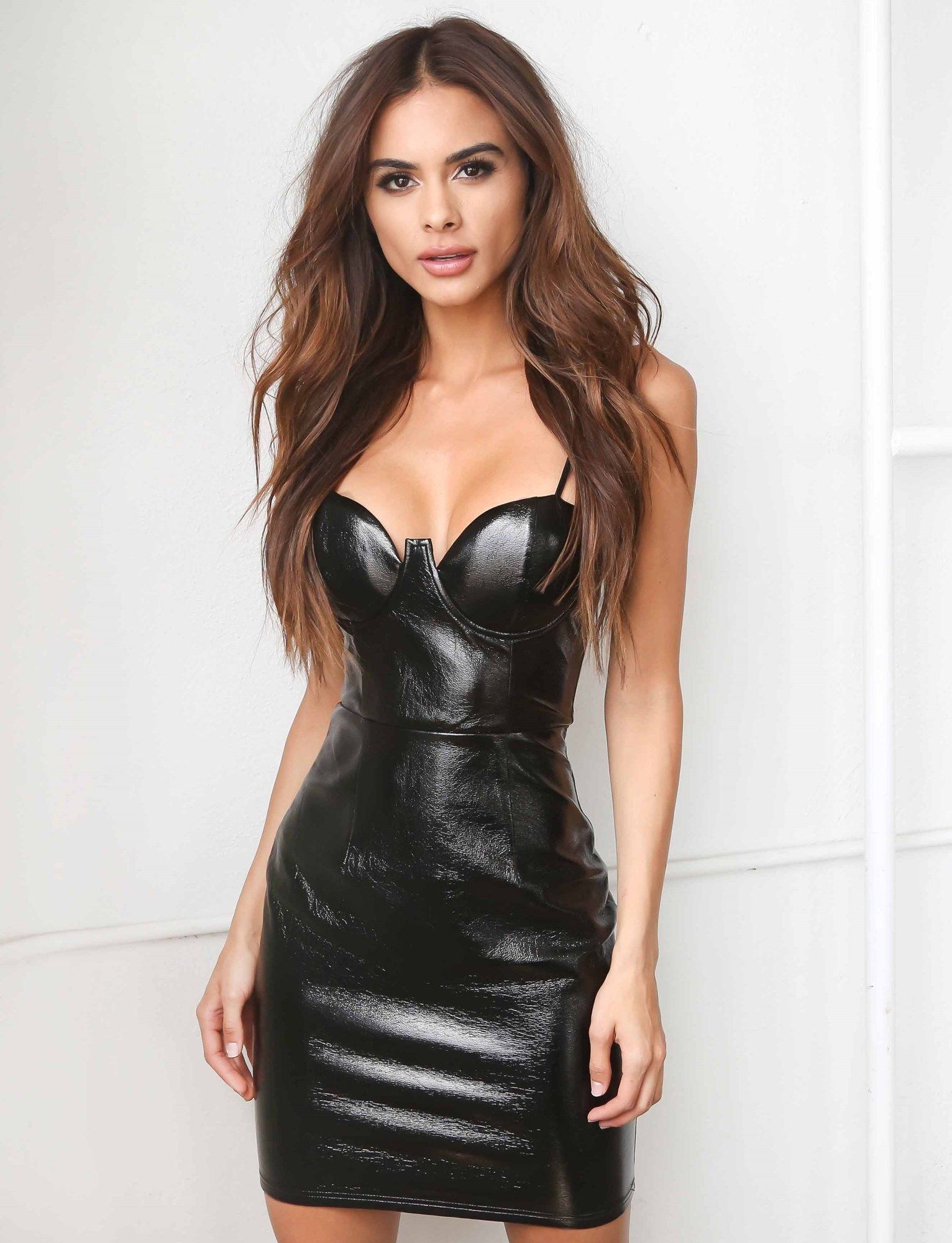 88d90980 Tiger Mist Mina Dress. Super sexy and great for a night out at the club!  #bodycon #dress #black #leather