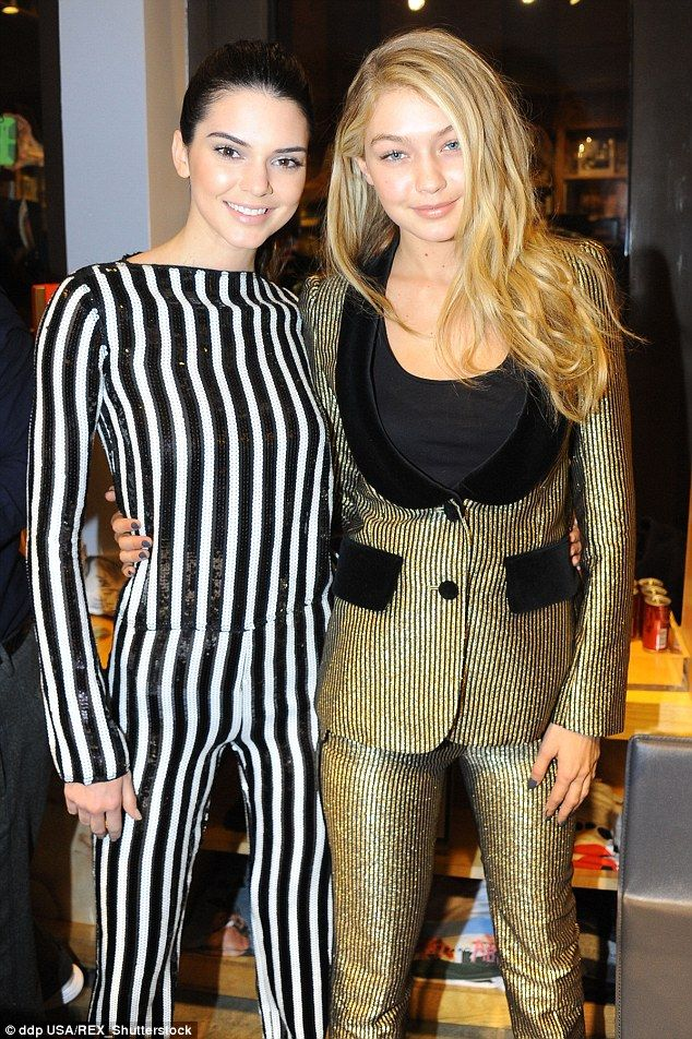 Pals: Gigi is good friends with Kendall Jenner, pictured in February in New York...