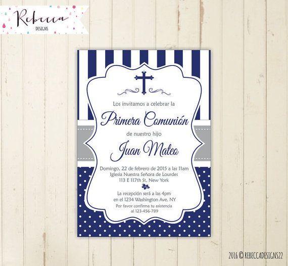 invitaciones de primera comunion y confirmacion