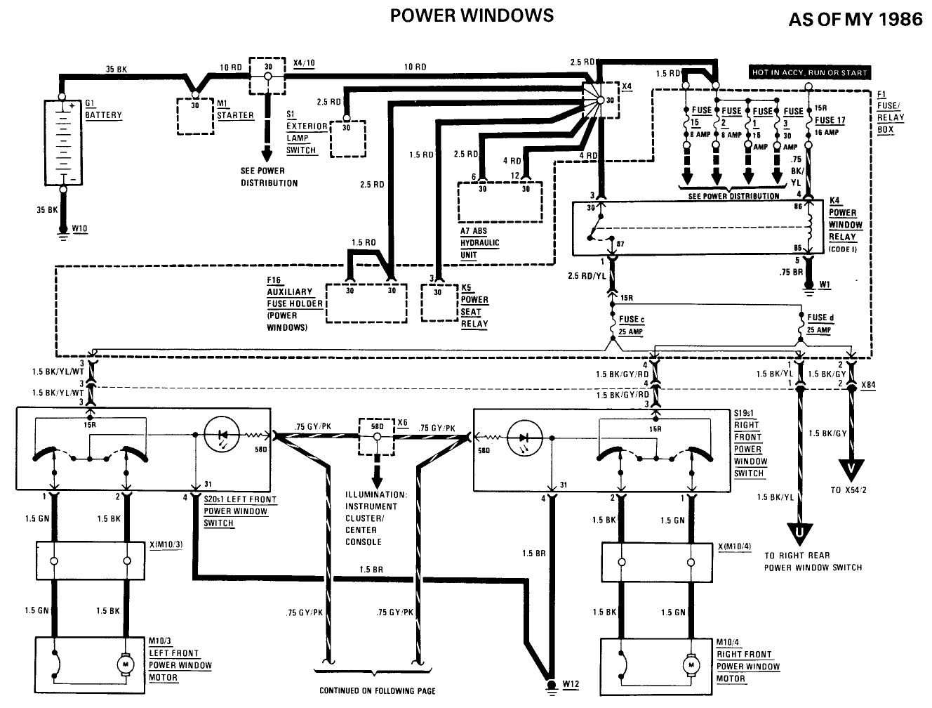 Power Window Relay With Illumination Instrument Cluster And Switch On Free Wiring Diagrams Illuminations Instrument Cluster House Wiring