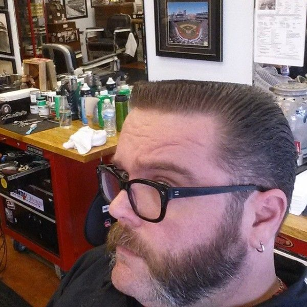 Flattop Haircut With Fenders And Chops Flattops Pinterest
