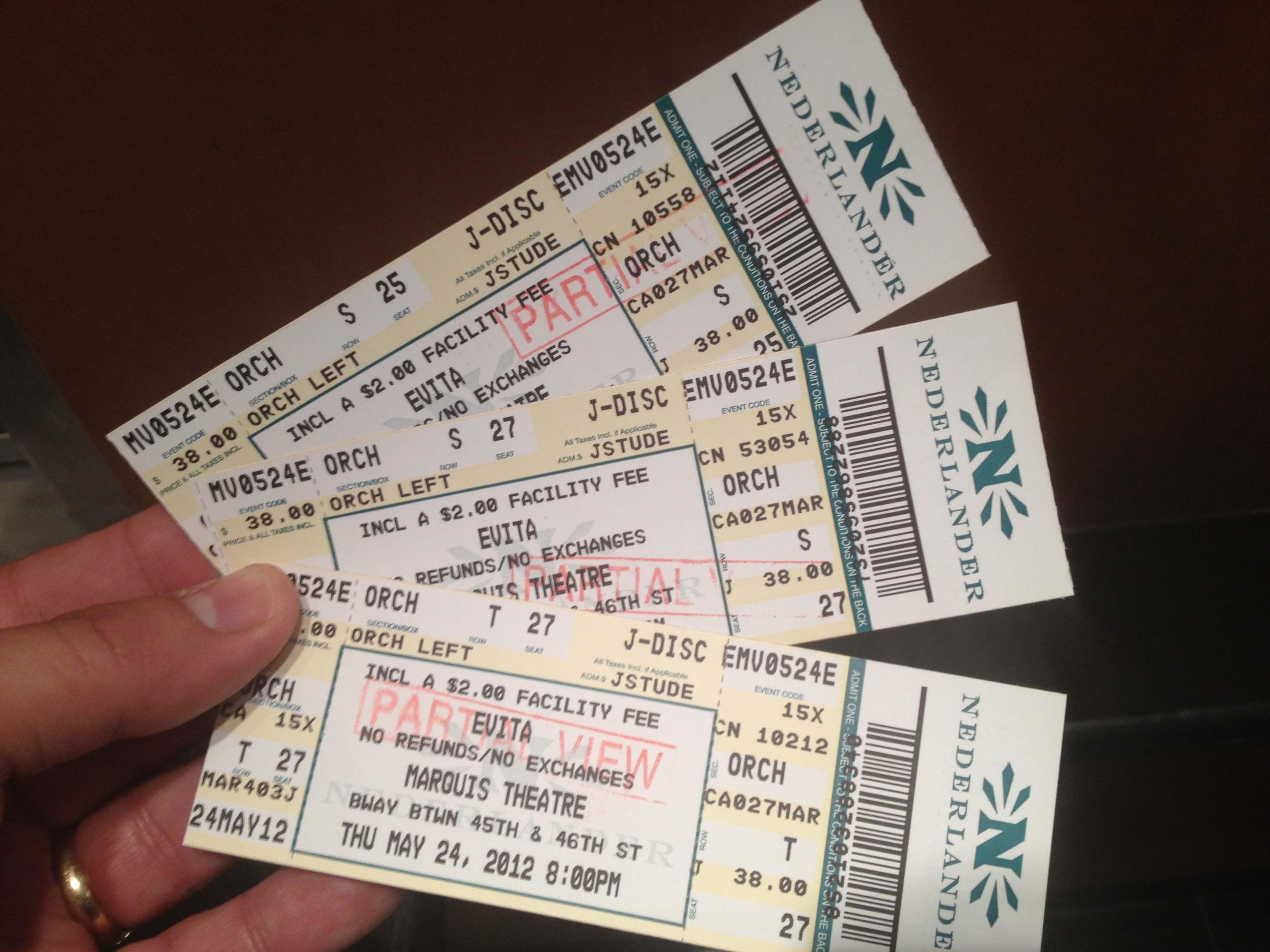 #nyc #day2 #evita #tickets #trip #marquis #theatre #partialView