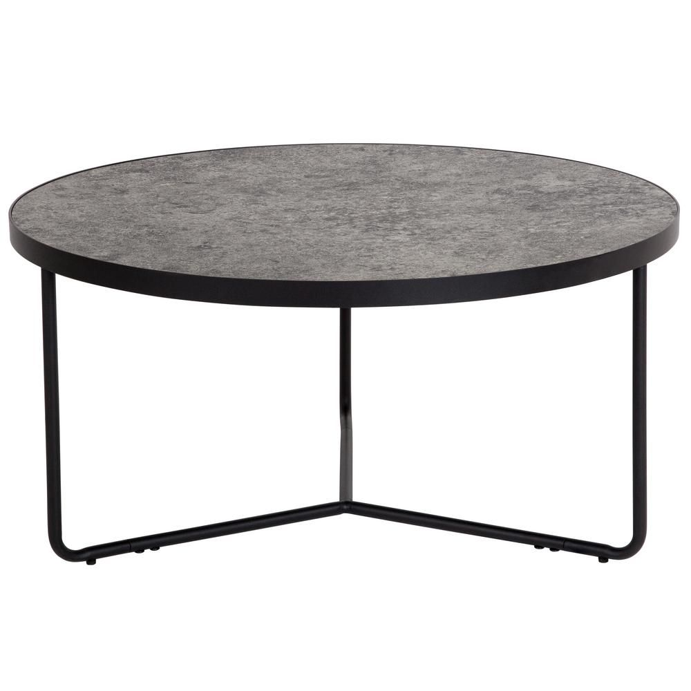 Carnegy Avenue 32 In Concrete Medium Round Wood Coffee Table Cga Hg 239409 Co Hd The Home Depot Concrete Coffee Table Coffee Table Flash Furniture [ 1000 x 1000 Pixel ]