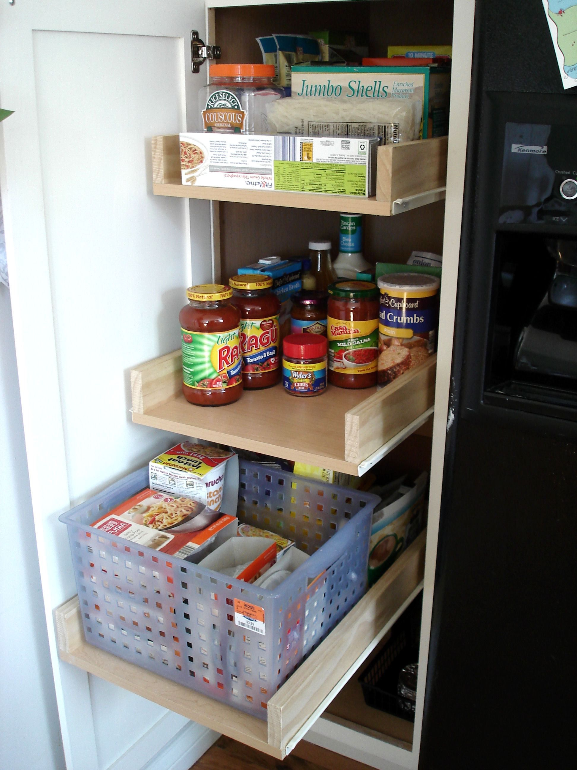 Black hole diy pull out shelves deep pantry