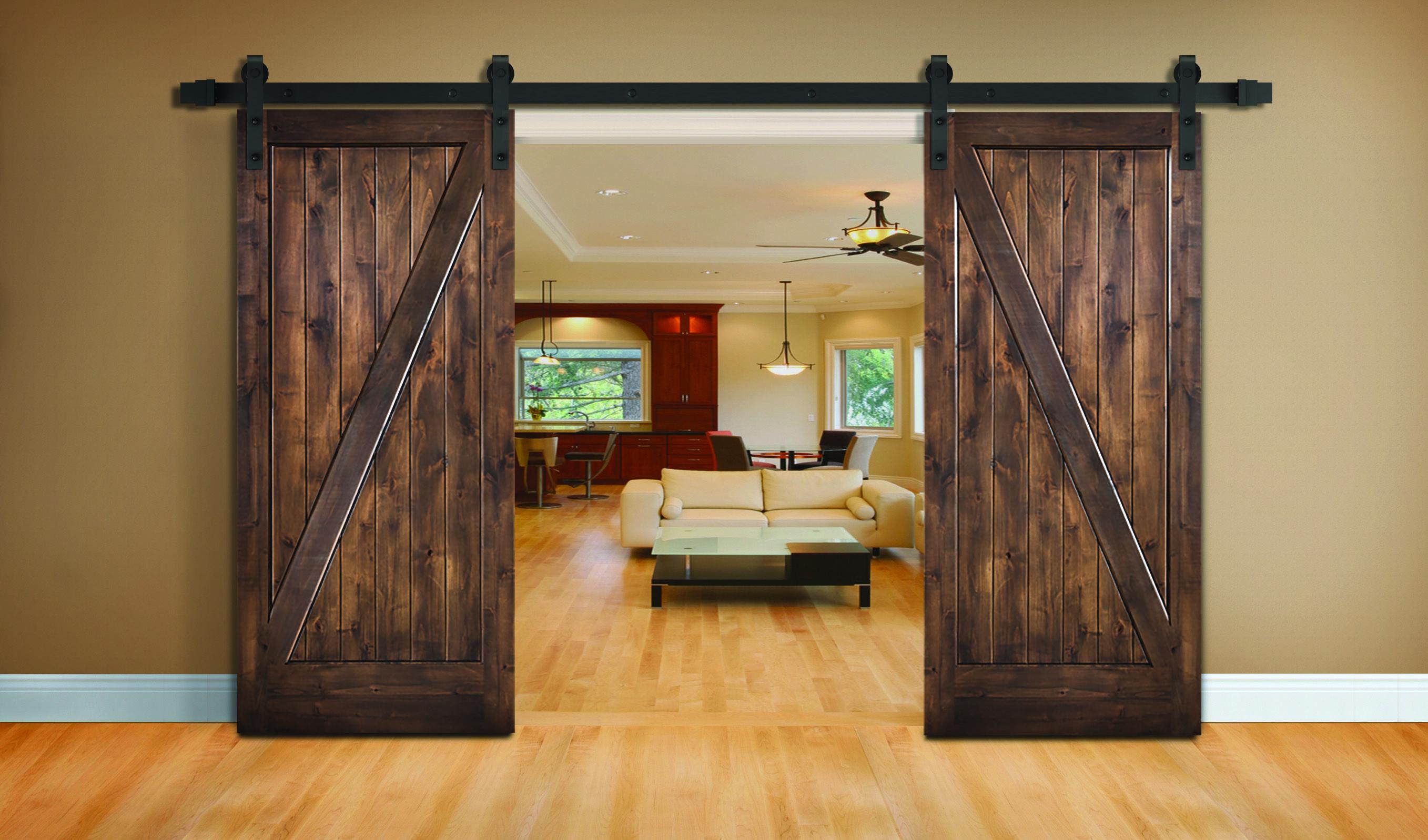 Elel Wood Products Premium Barn Doors Knotty Pine Interior Barn