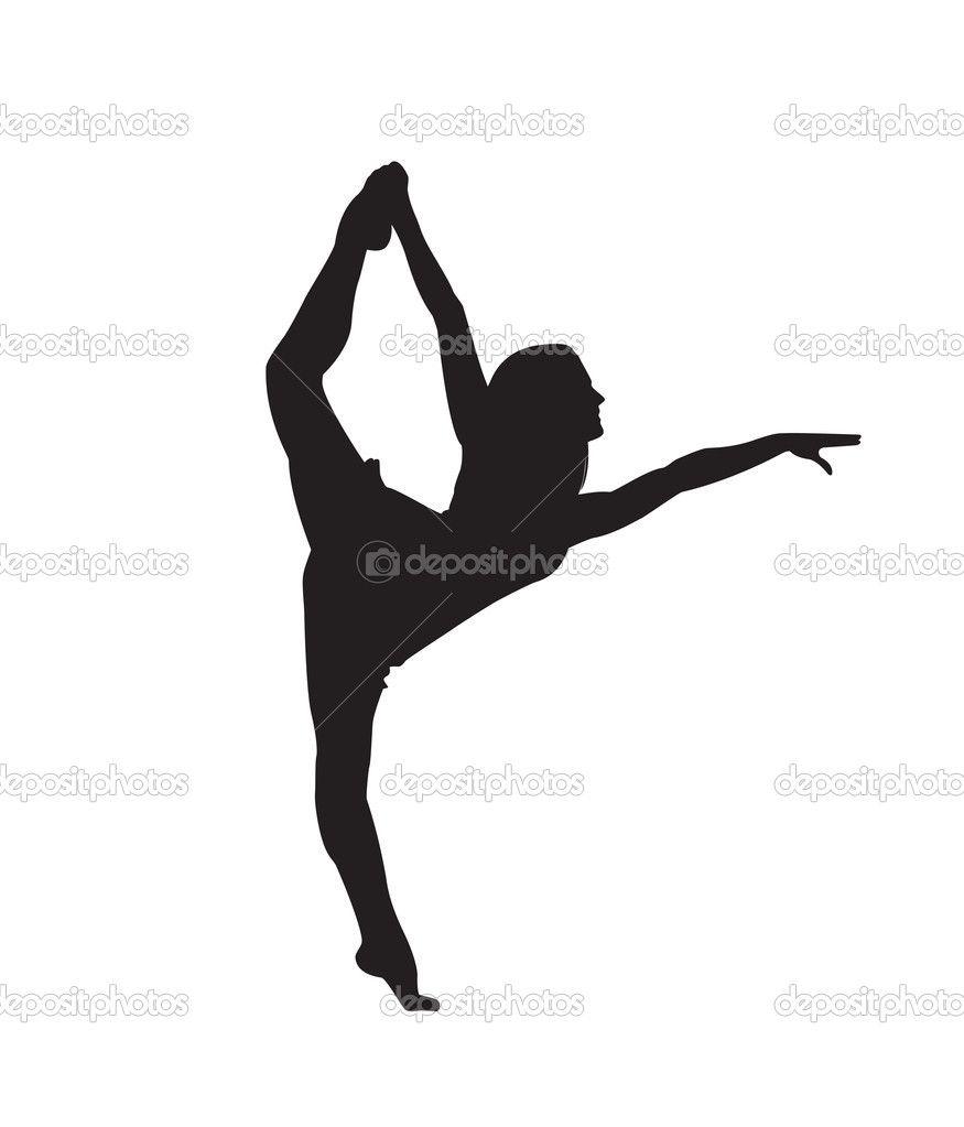 modern dancer silhouette depositphotos 8638324 print silhouette