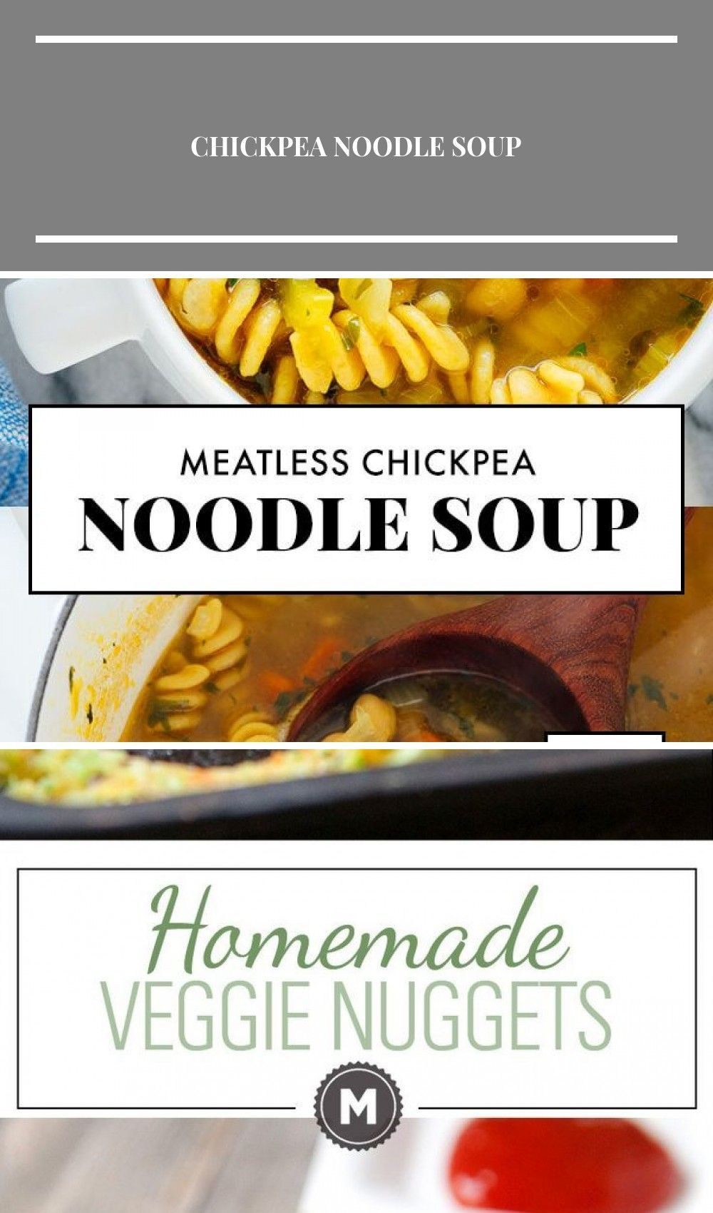This noodle soup is made with chickpeas instead of chicken! It's the perfect vegetarian/vegan soup for when you're feeling under the weather or craving familiar, comfort food flavors. #noodlesoup #vegan #vegetarian #plantbased #comfortfood #chickpeas #cookieandkate vegetarian Chickpea Noodle Soup #chickpeanoodlesoup This noodle soup is made with chickpeas instead of chicken! It's the perfect vegetarian/vegan soup for when you're feeling under the weather or craving familiar, comfort food flavors #chickpeanoodlesoup