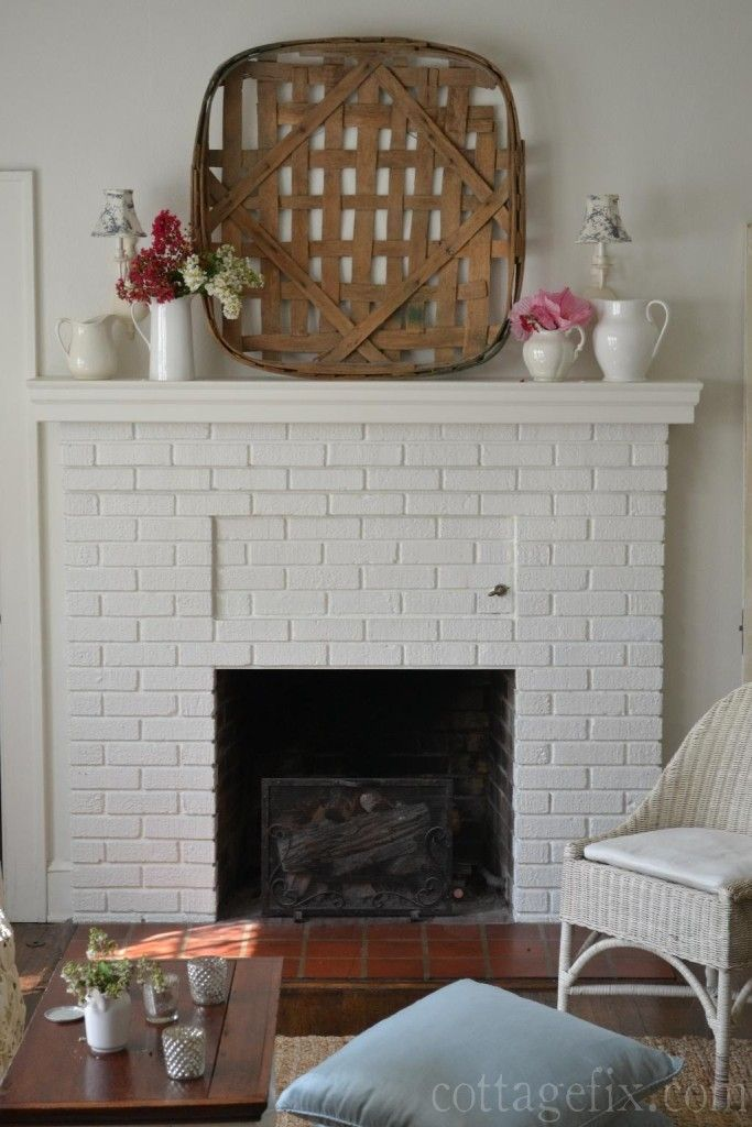 Cottage Fix Rustic Baskets Tv Over Fireplace Home N Decor