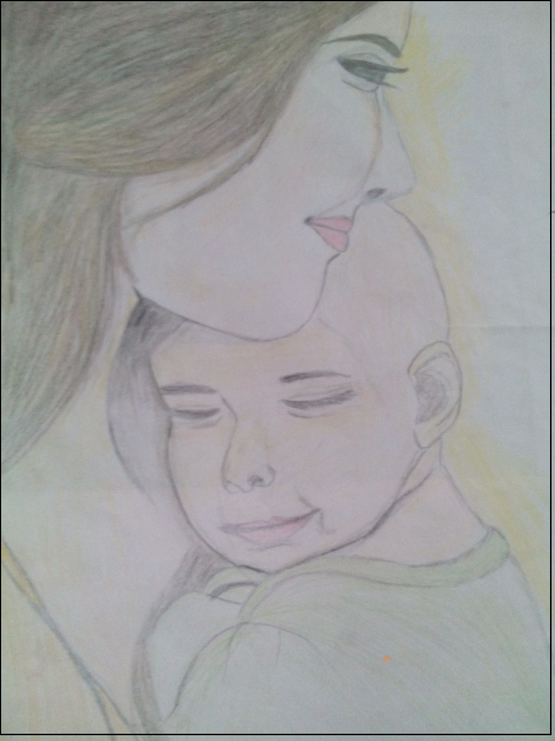 Pencil color happy mothers day drawing mothers day drawings happy mothers day pencil