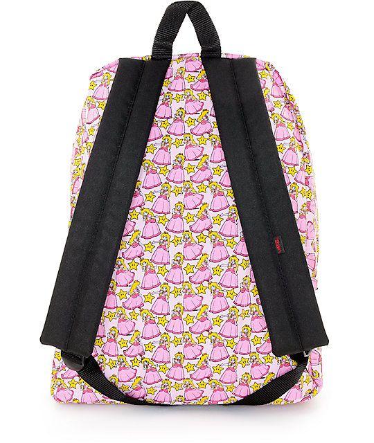 d101f28413 Vans x Nintendo Princess Peach Backpack   Zumiez   Nintendo princess ...